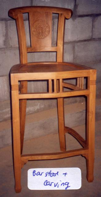 Barstool Chair B + carving