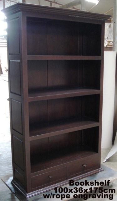 Bookshelf100x36x175 w rope engraving