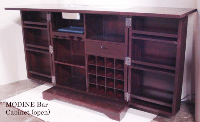 Modine Bar Cabinet Open Baliette Home Furnishings Bali Teak Furniture Indonesia
