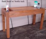 Bath Stool with bottle rack