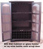 BigSlatCab.W WineRack w glass holder may 09