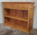 Bookshelf 130x36x106 w 3 upper drawers