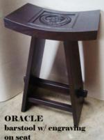 Oracle Barstool w engraving on seat